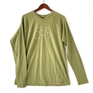•Life is Good• Green Bicycle long sleeve shirt